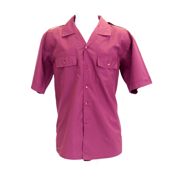 Burgundy Short Sleeve Pilot Shirt