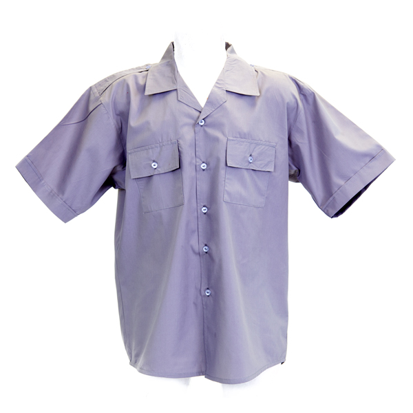 Grey Short Sleeve Pilot Shirt