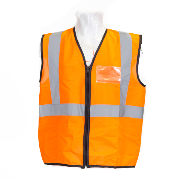 Orange High Visibility Sleeveless Vest