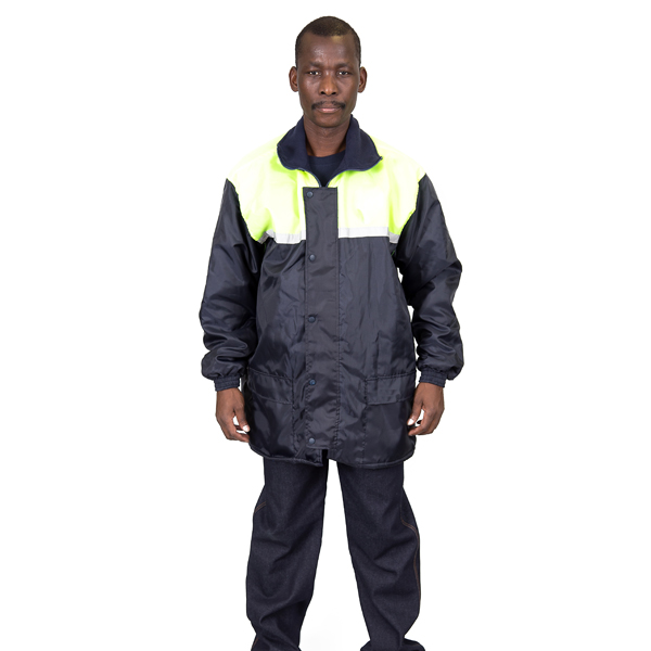Padded High Visibility Jacket - Front View