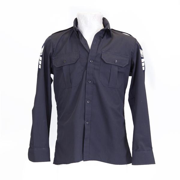 Raised Collar Long Sleeve Pilot Shirt